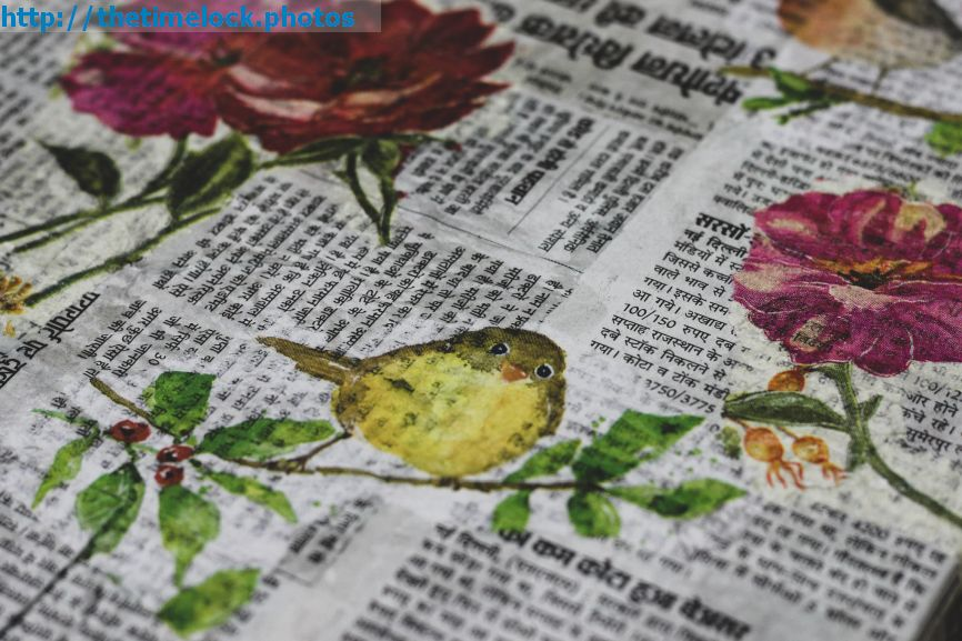 newspaper decoupage